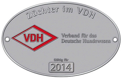VDH Züchterplakette 2014